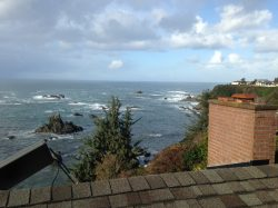 Oregon ocean view from a residential roof